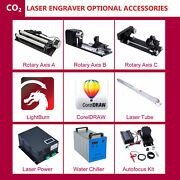 Co2 Laser Engraver Accessories Laser Tube Power Rotary Axis Chiller Autofocus