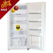 Smad Garage Ready 13.8 Cu. Ft. Frost Free Upright Freezer In White Energy Star