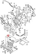 Genuine Vw Seat Exhaust Manifold With Turbocharger 03g253016r