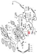 Genuine Vw Seat Sharan Exhaust Manifold With Turbocharger 028253019x