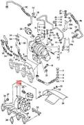 Genuine Vw Beetle Bettle Bora Exhaust Manifold With Turbocharger 038253019sx