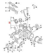 Genuine Vw Beetle Cabrio Exhaust Manifold With Turbocharger 06k145721p