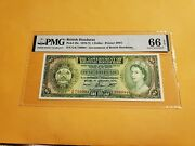British Honduras Note Scarcely Low Digits