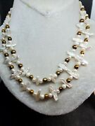 Gorgeous 2 Strand White Chocolate W/blister Freshwater Pearl Necklace 19924