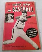 Vintage 1973 Book Whoand039s Who In Baseball Paperback Photos Of 660 Players