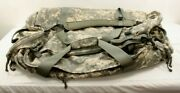 Authentic Military X-large Desert Storm Duffle Bag/backpack 28-38x24x1-17