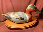 Vintage Solid Wood Duck Decoy Made By The Wooden Bird Factory W/base