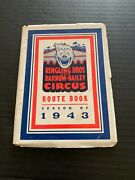 1943 Ringling Bros And Barnum Bailey Circus Route Book