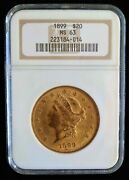 1899 Gold Double Eagle Ngc Ms63