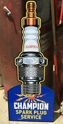 Champion Spark Plug Service Sign / Outdoor Garage Signs For Men / Gas And Oil