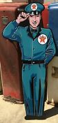 Texaco Service Man / 5 Foot Service Man Signs / Gas And Oil / Texaco Signs