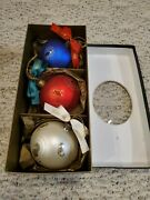 Waterford Holiday Heirlooms Ornaments Box Set Of 3 Large 4