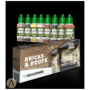 Scale 75, Bricks And Roofs, War Front Paint Set, 8 Colors 17ml Bottles, Sse-072