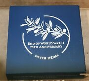 End Of World War Ii 75th Anniversary Silver Medal In-hand/fast Ship Free Ship
