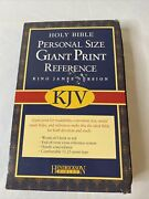 Holy Bible Personal Size Giant Print Reference Kong James Version Brown