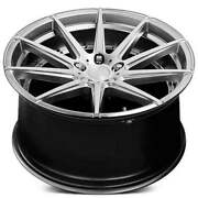4 22 Staggered Verde Wheels V20 Insignia Silver Machined Rimsb45