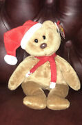 Rare 1997 Holiday Teddy Style 4200 Brown Nose Tag Errors Pvc 12-25-96