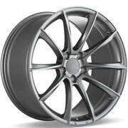 4 20 Staggered Ace Alloy Wheels Aff05 Space Gray Rimsb45
