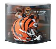 Joe Burrow Signed Bengals 1 Pick Authentic Helmet Curve Display Fanatics Le 9