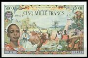 Central African Republic Centrafricaine 1980 P11 Andbull 5000 Francs Andbull Unc Nt-5875
