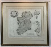 Antique Map Engraving Of Ireland, Dated 1778, By Paolo Santini, Italy - Robert's