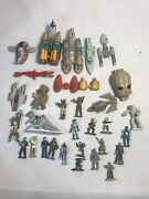 Lot Of Vintage Star Wars Action Fleet Vehicles And Ships And Figuresminiature Ships