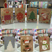Christmas Gift Bags 3x Xmas Bags Large Wrapping Present Bags Packing Box Craft