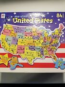 Milton Bradley 84 Piece Puzzle Map Of The United States 14 3/8 In. X 20 3/8 In.
