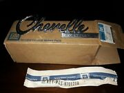 Nos Gm 1969 Chevelle Ss Rear Trunk Lid Emblem 454 396 Early Design With Nuts