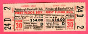 Rare Full Ticket-1954 Pirates/phillies-forbes-robin Roberts Wins-4,209 Fans