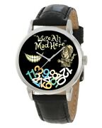 Symbolic Alice In Wonderland We Are All Mad Here Mad Hatter Cheshire Cat Watch