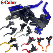 Motorcycle 7/8and039and039 Cnc Universal Brake Clutch Master Cylinder Reservoir Lever Set