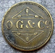 South Africa 1899 - 1923 Osborne Garret And Co O G And Co 2 Penny Barber's Token