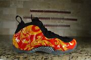 New Nike Air Foamposite Supreme Red Size 9 Black Gold 652792 600