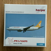 Herpa 1500 Boeing 737-800 Pegasus Airlines - Rare Collectible, Mib
