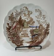 Two Vintage Staffordshire England By Ridgway Coaching Days And Ways Dinner Plates