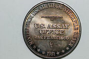 1981 Us Assay Office Toned 1 Troy Ounce Fine Silver 999 Round Num5611