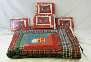 Day By Day Holiday Wishes 100x90 Quilt Comforter With 4 20x26 Pillow Shams