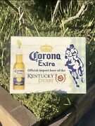 Corona Extra Kentucky Derby Beer Bar Wood Sign Man Cave New Mirror