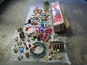 Christmas Tree 6 Feet And Decorations Ornaments Lot For Pickup