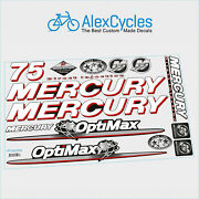 75 Hp Mercury Optimax Direct Injection Outboards Motor Laminated Decals Kit