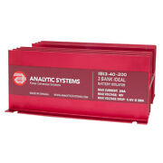 Analytic Systems 200a, 40v 3-bank Ideal Battery Isolator Ibi3-40-200