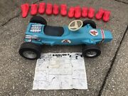 Marx Vintage 1969 Sun N Snow 2 In 1 Ride-on Childs Racer Race Car And Sled