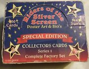 Riders Of The Silver Screen Trading Card Box Vintage 1993 Used