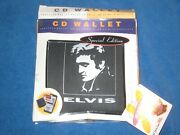 Elvis Presley Special Edition Cd Wallet Holds 24 Cd's Or 12 W/booklets, New