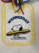 Vintage Peanuts Snoopy Quilted Fabric For 7 Bibs Days Of Week New 7 Bibs Total