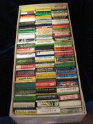 124 Vintage 1940and039s And 50and039s Unused Matchbooks-motels-bars-horseracing And More