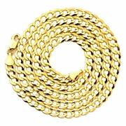 14k Yellow Gold 5.5mm Plain Solid Curb Cuban Necklace 18 To 30