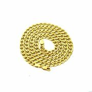 14k Yellow Gold 5.5mm Hollow Curb Cuban Chain Necklace 22 - 26