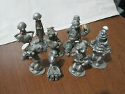 8  Popeye Spoontiques Pewter Figures 1980 P/o/b/w/sp